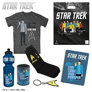 Star Trek Showbag ($25) Includes:  T-shirt  Socks  Can cooler