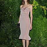 At the Vanity Fair Venice Film Festival bash, Zac Posen's neutral design was a sleek and sophisticated choice for Gia Coppola.