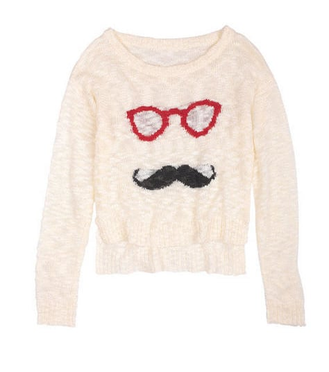 We can't get enough of cheek knits, like Delia's intarsia pullover ($35).