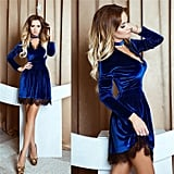 Lanruosi Velvet Lace Dress