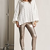 Forever 21 Faux Leather Moto Leggings