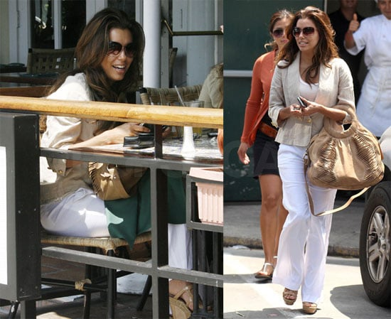 Photos of Eva Longoria Having Lunch With Friends