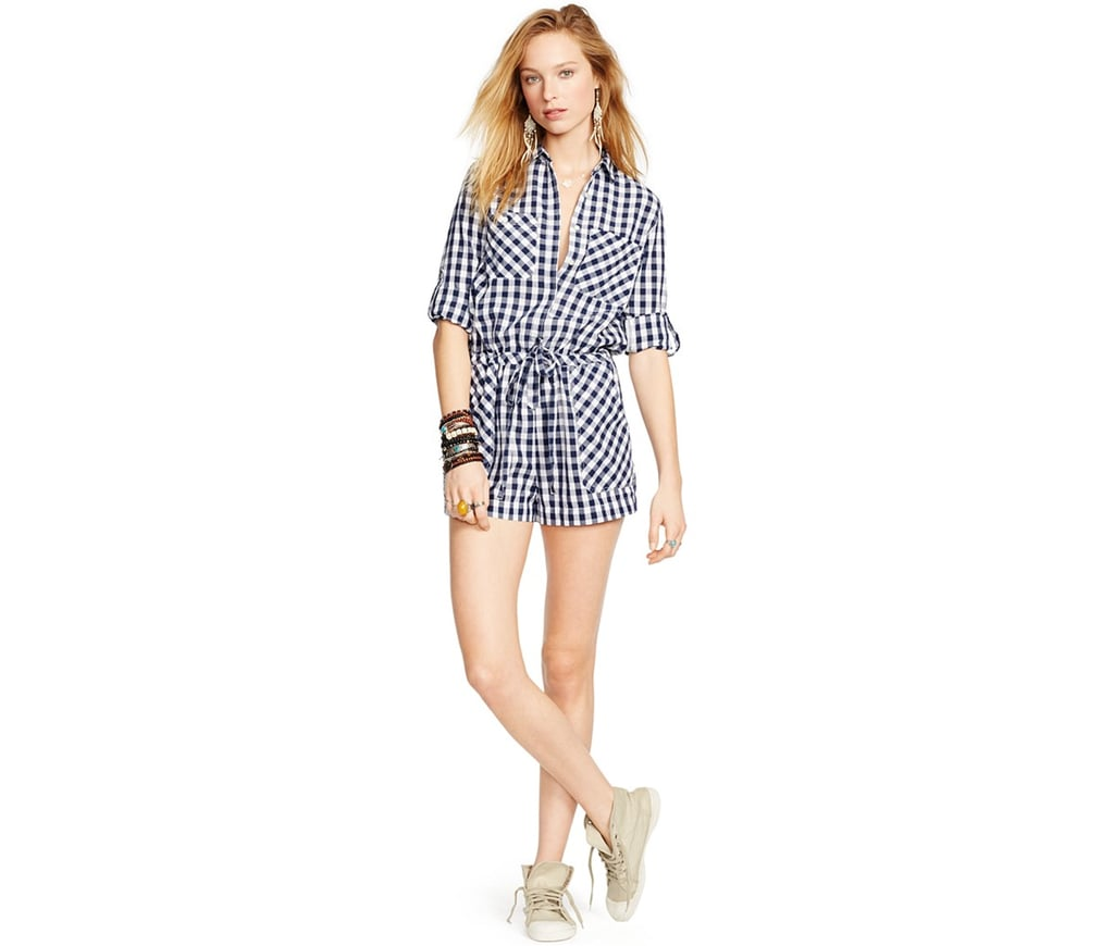 Getting dressed in the morning is such a struggle for me that I'm now stocking up on tons of easy, breezy pieces. A romper, like this Denim & Supply Ralph Lauren Gingham Drawstring Romper ($98), is the perfect one-and-done seasonal staple that'll get me dressed and out of the house in no time. Just pair it with some cool kicks, and you're pretty much done. — Samantha Sutton, assistant editor