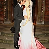 Gwen Stefani married Gavin Rossdale wearing a dip-dyed John Galliano in London in September 2002 — the designer was also a guest!
