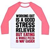Pizza Workout Baseball Shirt