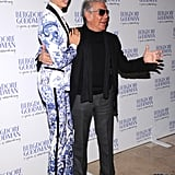 Karolina Kurkova wore a Resort 2013 Roberto Cavalli suit at the Bergdorf Goodman 111th Anniversary Celebration in NYC.