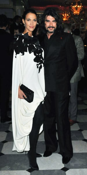 Former Miss France Linda Hardy and Stephane Rolland