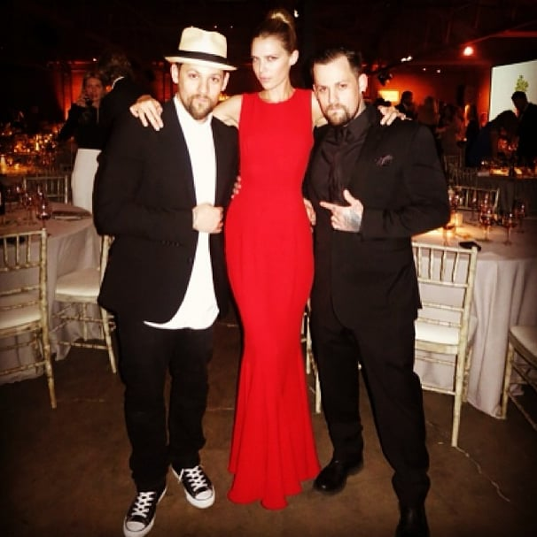 Distracted by this statuesque partygoer? So were Nicole Richie's dates! Source: Instagram user nicolerichie