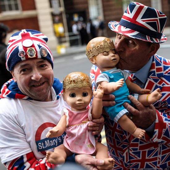 Royal Baby Fans Waiting Outside St. Mary's Hospital