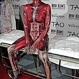 Heidi Klum as a Skinned Woman