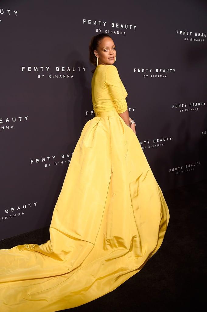 Rihanna dress 2018 yellow