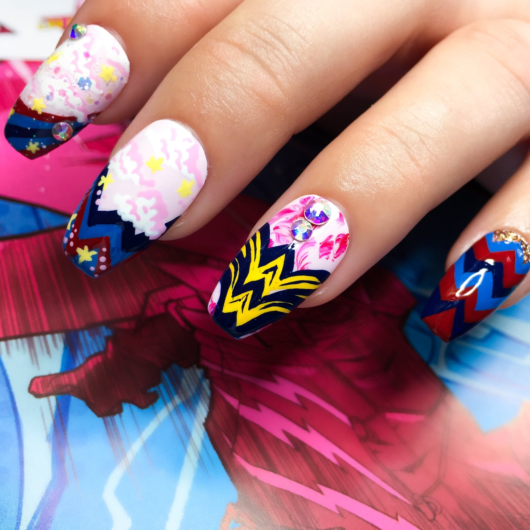 Nails Wonder Woman Can Nail Art Be Feminist: Wonder Woman Nail Ideas