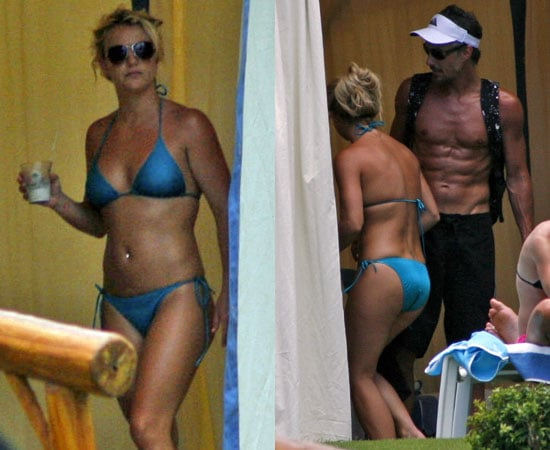 Picture of Britney Spears In A Blue Bikini and Shirtless Jason Trawick in Hawaii Vacation