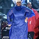 Celia Cruz and Her Wig