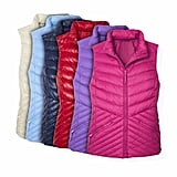 Chevron Quilted Puffer Vests