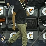 Jay-Z at a New Jersey Nets game.