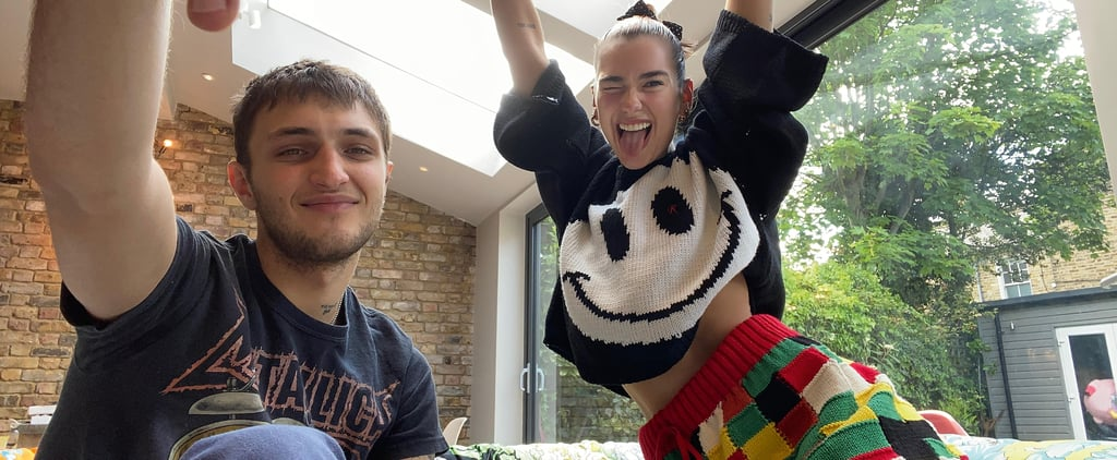 Dua Lipa's Crochet Shorts at Home With Anwar Hadid