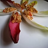 Endive Boats filled with Tuna Hummus