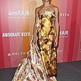 In September, she wore a stunning floral gown to the amfAR Gala in Milan.