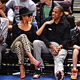They were all smiles at an April 2012 Knicks game in NYC.