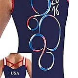 Motionwear Red, White & Blue Silkskyn Wide Strap X Back Leotard ($40)