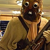 As you exit the theater, you quickly take a photo of this Tusken Raider.