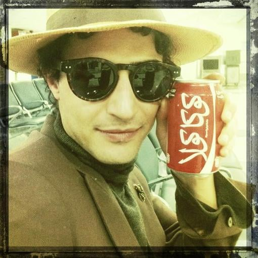 Zac Posen enjoyed a Coke in India. Source: Twitter user Zac_Posen