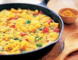 Fast & Easy Dinner: Curried Vegetable Hash