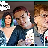GRANDMA REACTS TO KYLIE JENNER & TRIES HER LIPKIT (KYLIE LIPKIT OPEN GIVEAWAY)