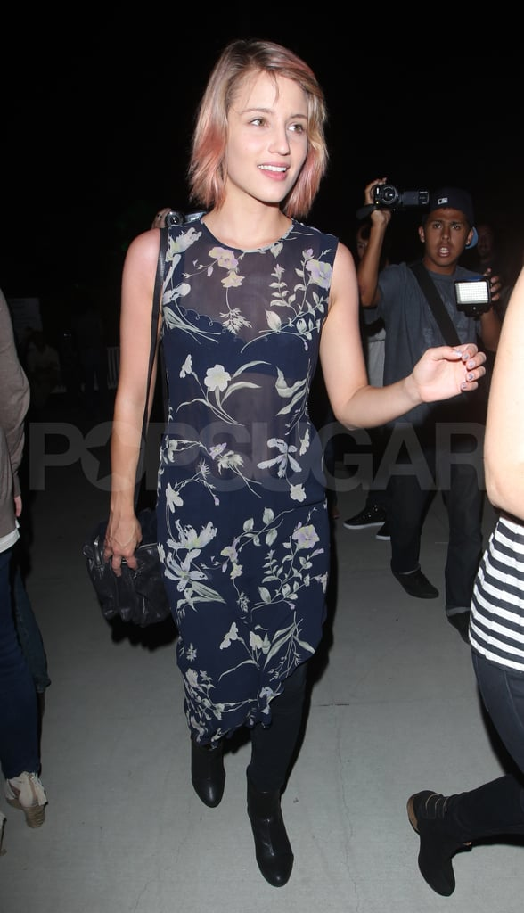 Dianna Agron at Adele's LA show.