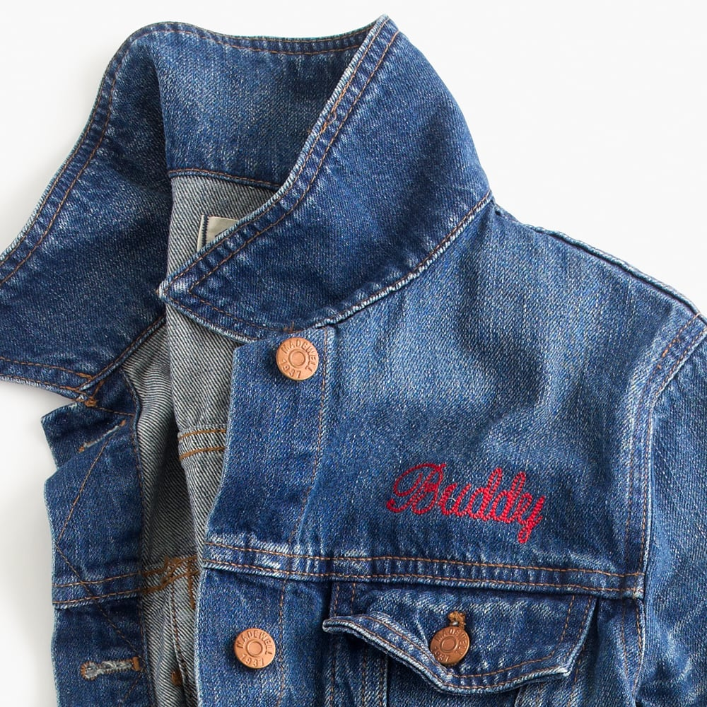 Madewell The Jean Jacket Monogrammed Personalized Holiday Gifts