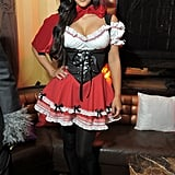 Kim Kardashian added some sex appeal to her Little Red Riding Hood character at an NYC party in 2010.