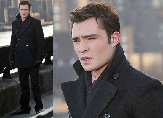 Photos of Ed Westwick and Laura Harring Filming Gossip Girl Season 3 in New York City, Vote for Ed in My Best of 2009 Polls