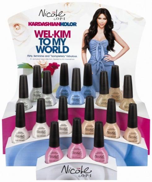 "Kim's Kardashian Kolor ads featured the headline ""Wel-Kim to My World."""