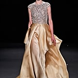 Naeem Khan's stunning champagne-colored gown confection is the gown equivalent of wearing a fancy t-shirt and jeans — we'd love to see it hit the red carpet.
