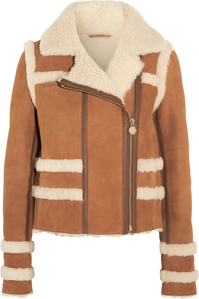 If she's stuck in the cold for the next few months, at least she can layer up in style and luxury in this Carven Shearling Jacket ($2,300).