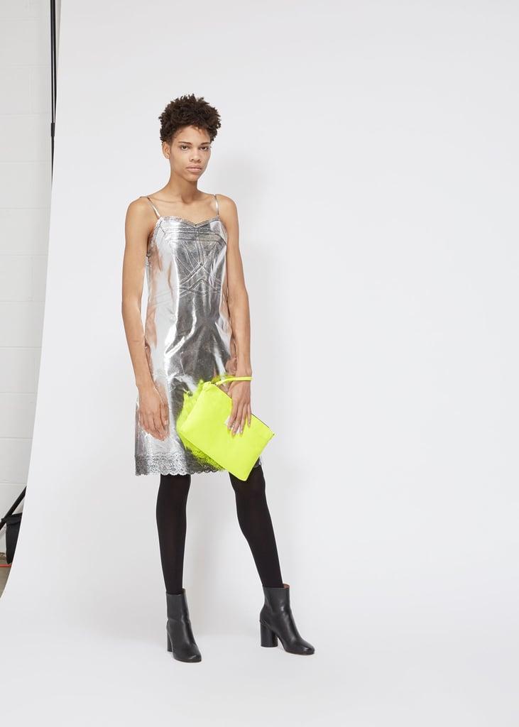 MM6 Maison Margiela Silver Coated Slip Dress