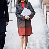 Letizia in Hugo Boss, February 2018
