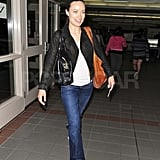 Olivia Wilde Looks Happy as She Heads Out of Town