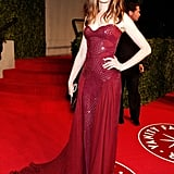 Anne was a vision in red Atelier Versace at the 2011 Vanity Fair Oscar party.