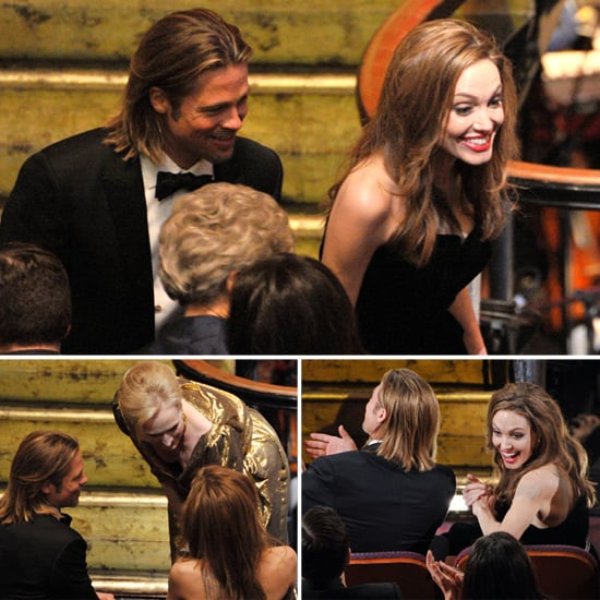 Angelina Jolie and Brad Pitt Pictures Inside the 2012 Oscars
