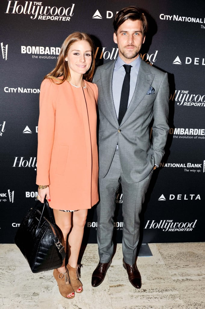 Olivia Palermo (wearing Zara) and Johannes Huebl at The Hollywood Reporter's 35 Most Powerful People in Media soiree. Photo: Elle Jota/BFAnyc.com