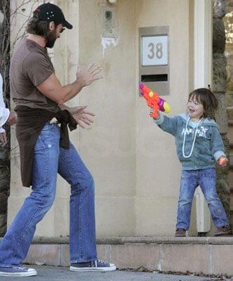 Hugh Jackman Gets Shot Down by Ava at Home