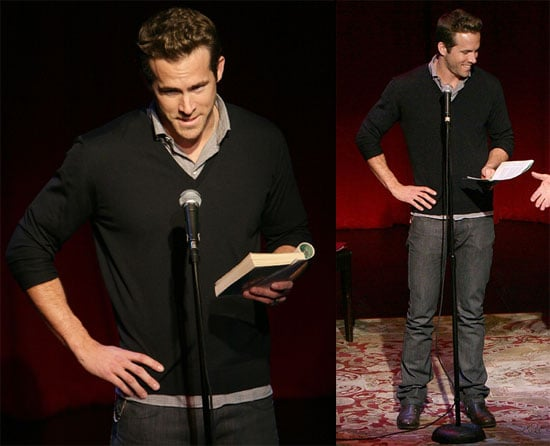 Photos of Ryan Reynolds Reading For Celebrity Autobiography: In Their Own Words