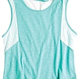 We love this mint-colored tank; the cropped length is great with high-waisted shorts or jeans, and the mesh detail is cool and sporty. Delia's Mesh Inset Tank ($20)