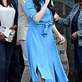 Meghan Markle Repeats Her Blue Veronica Beard Dress on Tour