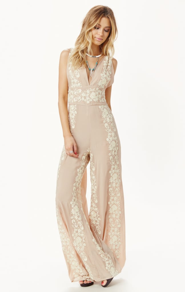 Gigi Hadid wore this flower-embroidered Blue Life jumpsuit ($228) for her birthday party, and now I can't get it out of my mind. I love the romantic dusty-rose color and the relaxed, wide-leg fit of the design.  — SW, editorial assistant