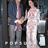 Katy Perry and John Mayer held hands leaving a restaurant in LA.