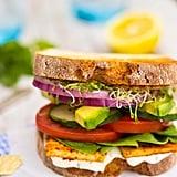 Ultimate Veggie Sandwich With Smokey Tofu and Lemon Basil Mayo