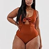 Peek & Beau Curve Exclusive Eco Tie Bow Front Swimsuit